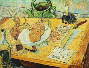 Vincent Van Gogh - Still Life Drawing Board, Pipe, Onions and Sealing-Wax