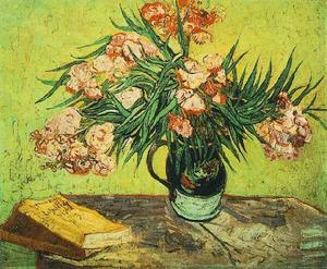 Vincent Van Gogh - Still Life Vase with Oleanders and Books