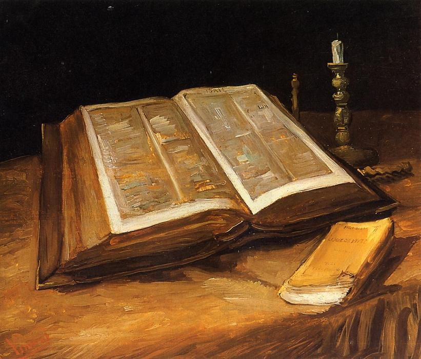 Still Life with Bible, Oil On Canvas by Vincent Van Gogh (1853-1890, Netherlands)