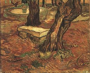 Vincent Van Gogh - Stone Bench in the Garden of Saint-Paul Hospital, The