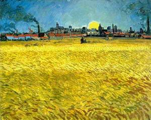 Vincent Van Gogh - Sunset Wheat Fields Near Arles