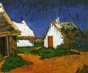Vincent Van Gogh - Three White Cottages in Saintes-Maries