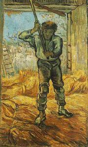 Vincent Van Gogh - Thresher after Millet, The