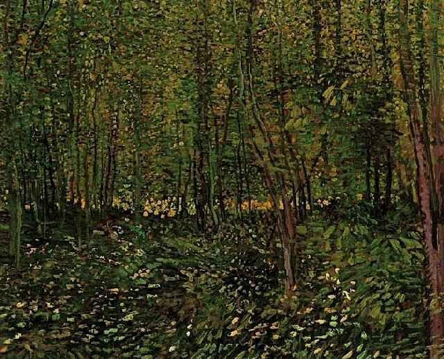 Trees and Undergrowth 2, Oil by Vincent Van Gogh (1853-1890, Netherlands)