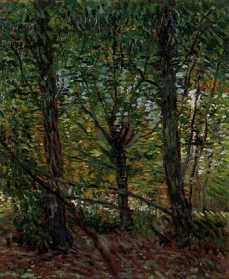 Trees and Undergrowth by Vincent Van Gogh (1853-1890, Netherlands) | Painting Copy | WahooArt.com