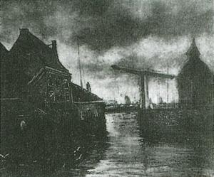Vincent Van Gogh - View of a Town with Drawbridge