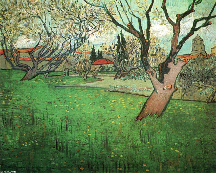 View of Arles with Trees in Blossom, Oil On Canvas by Vincent Van Gogh (1853-1890, Netherlands)