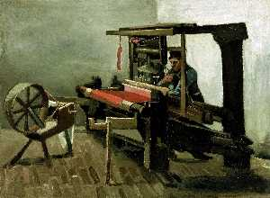 Vincent Van Gogh - Weaver Facing Left with Spinning Wheel