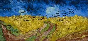 Vincent Van Gogh - Wheatfield with Crows - (oil painting reproductions)