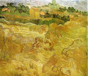 Vincent Van Gogh - Wheat Fields with Auvers in the Background
