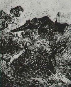 Vincent Van Gogh - White Cottage Among the Olive Trees, The