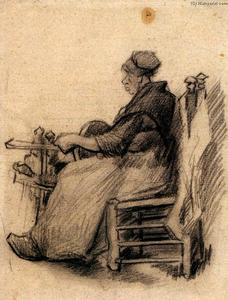 Vincent Van Gogh - Woman Winding Yarn