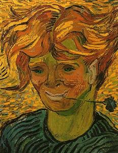 Vincent Van Gogh - Young Man with Cornflower - (oil painting reproductions)