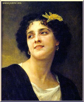 Dark Beauty, Oil by William Adolphe Bouguereau (1825-1905, France)