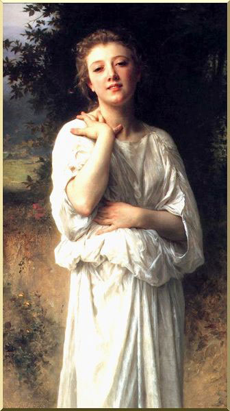 Girl, Oil by William Adolphe Bouguereau (1825-1905, France)