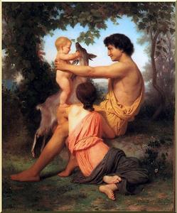 William Adolphe Bouguereau - Idyll: Family from antiquity
