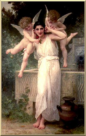 Innocence, Oil by William Adolphe Bouguereau (1825-1905, France)