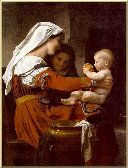 Madonna and Child with St. John the Baptist by William Adolphe Bouguereau (1825-1905, France) | Painting Copy | WahooArt.com