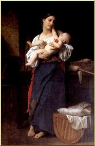 William Adolphe Bouguereau - Maternal Admiration
