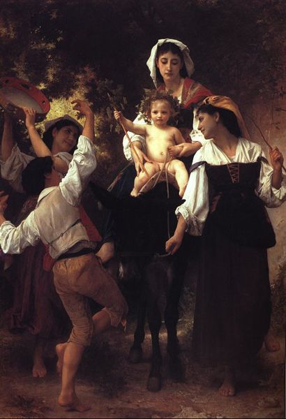 Return from the Harvest by William Adolphe Bouguereau (1825-1905, France) | Painting Copy | WahooArt.com