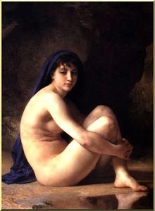 William Adolphe Bouguereau - Seated Nude