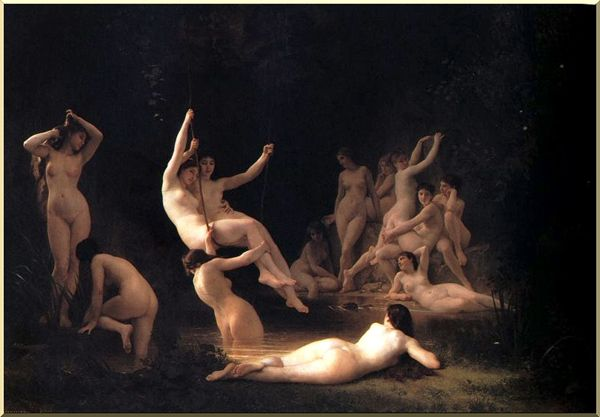 The Nymphaeum by William Adolphe Bouguereau (1825-1905, France) | Oil Painting | WahooArt.com