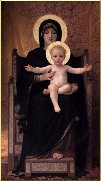 Virgin and Child, Oil by William Adolphe Bouguereau (1825-1905, France)