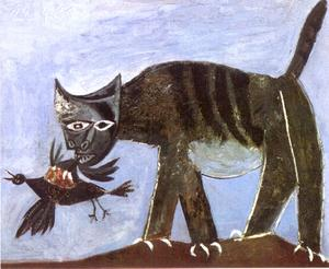 Pablo Picasso - Cat and Bird