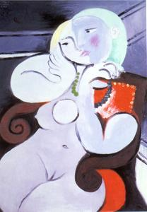 Pablo Picasso - Nude Woman in Red Armchair