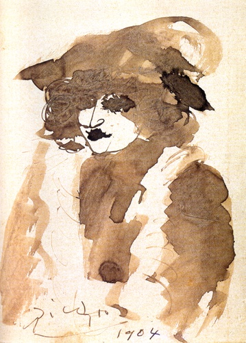 Portrait of Suzanne Bloch (Opera Singer), Oil by Pablo ...