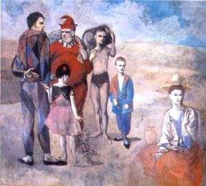 Pablo Picasso - Saltimbanques (The Family of Saltimbanques) - (Famous paintings reproduction)