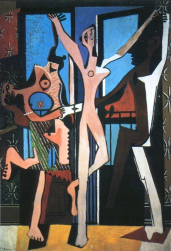 The Three Dancers, Oil by Pablo Picasso (1881-1973, Spain)