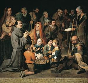 Bartolome Esteban Murillo - St. Diego Giving Alms