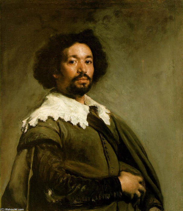 Juan de Pareja, Oil On Canvas by Diego Velazquez (1599-1660, Spain)