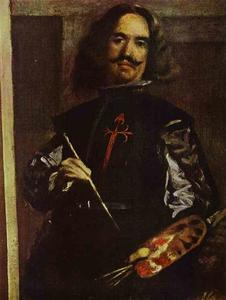 Diego Velazquez - Las Meninas (The Maids of Honor) or the Royal Family. Detail. Self-Portrait