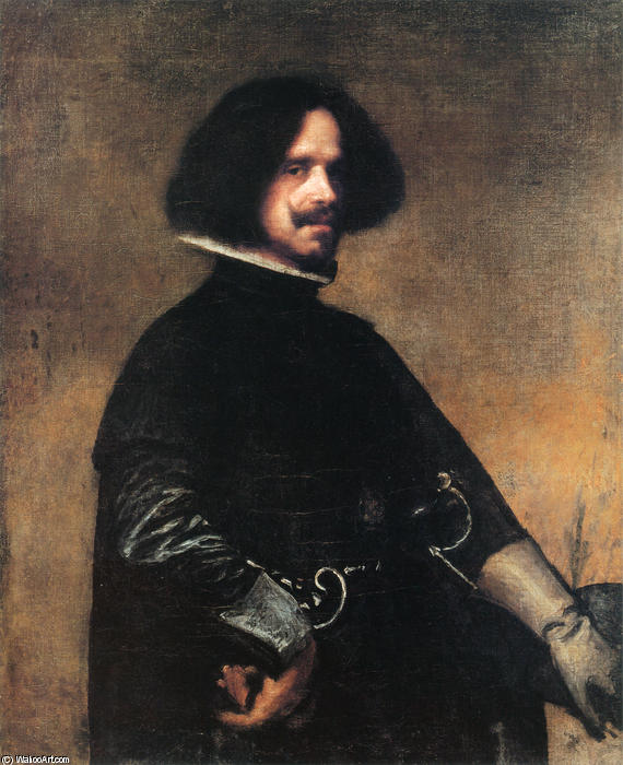Self-portrait, Oil On Canvas by Diego Velazquez (1599-1660, Spain)
