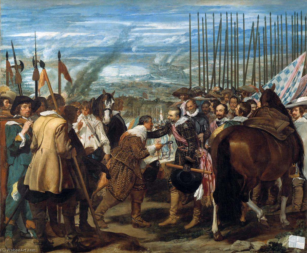 Surrender of Breda (Las Lanzas), Oil by Diego Velazquez (1599-1660, Spain)