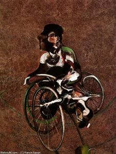 Francis Bacon - portrait of george dyer riding a bicycle, 1966