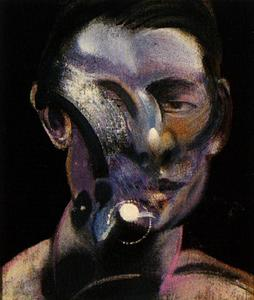 Francis Bacon - three studies for a portrait of peter board, 1975 ii center