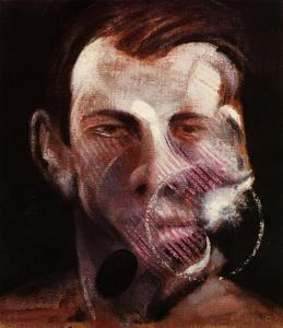 Francis Bacon - three studies for a portrait of peter board, 1975 left