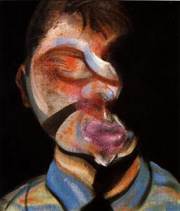 Francis Bacon - three studies for self-portrait, 1972 left