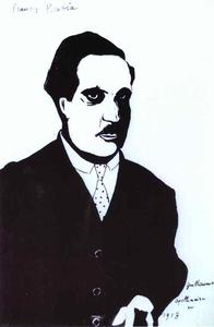 Francis Picabia - Guillaume Apollinaire in 1913