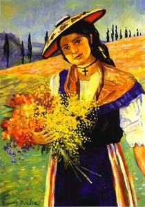 Francis Picabia - Young Girl with Flowers (Jeune fille aux fleurs)