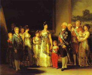 Charles IV and His Family, Oil by Francisco De Goya  (order Fine Art Poster on canvas Francisco De Goya)