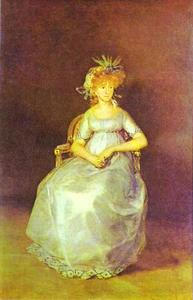 Francisco De Goya - Portrait of the Countess of Chinch n