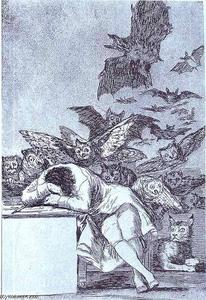 Francisco De Goya - The Sleep of Reason Produces Monsters.
