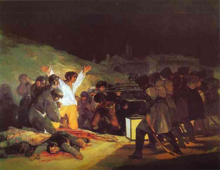 The Third of May, 1808 The Execution of the Defenders of Madrid by Francisco De Goya (1746-1828, Spain) | Painting Copy | WahooArt.com