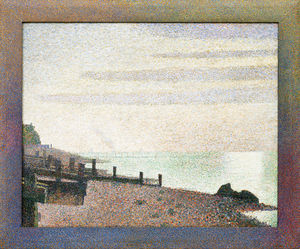 Order Painting Copy : Evening, Honfleur, 1886 by Georges Pierre Seurat (1859-1891, France) | WahooArt.com