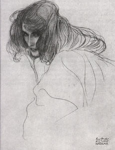 Gustav Klimt - Study for 'Lewdness' from the Beethoven Frieze