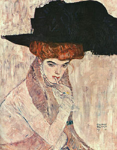 Gustav Klimt - Black Feather Hat(Lady with a Feather Hat), The